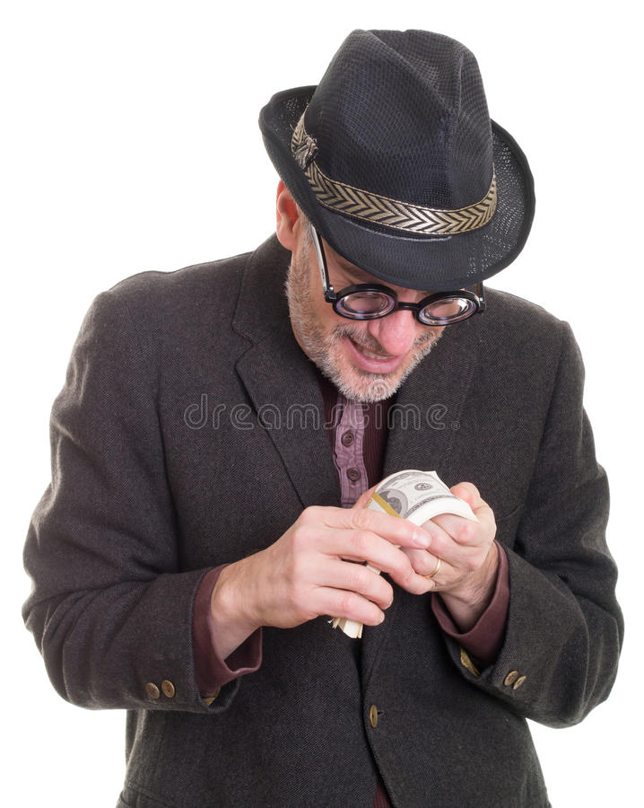 贪婪 免版税库存图片