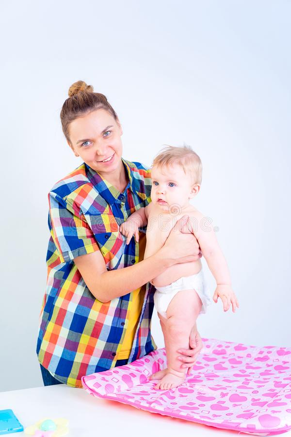婴儿母亲 图库摄影