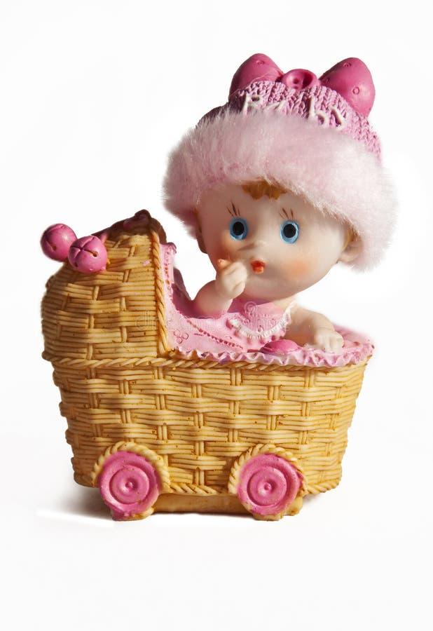 婴儿车陶瓷玩具 免版税库存图片