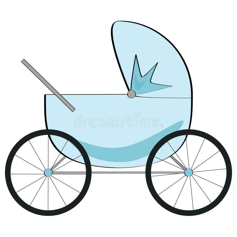 婴儿车 皇族释放例证