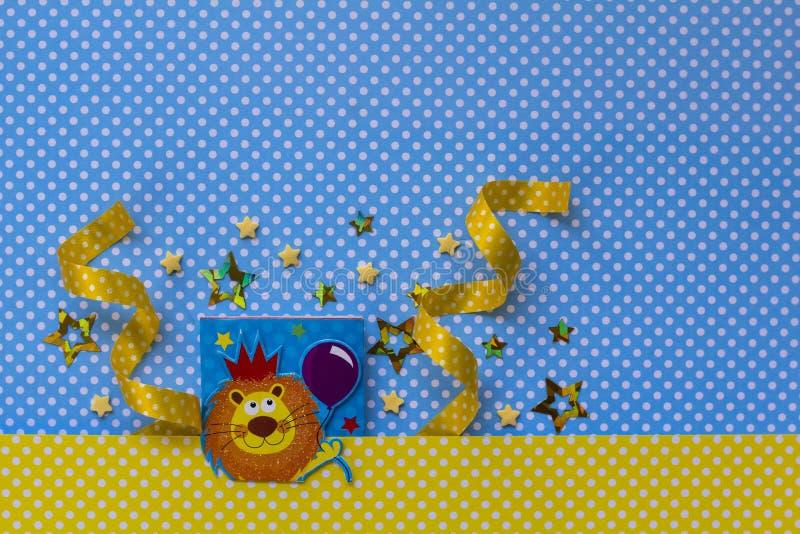婴儿送礼会党 利奥黄道带符号 库存图片
