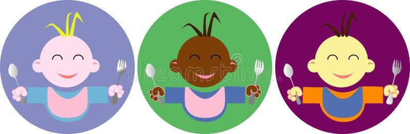 婴儿食品徽标 库存例证