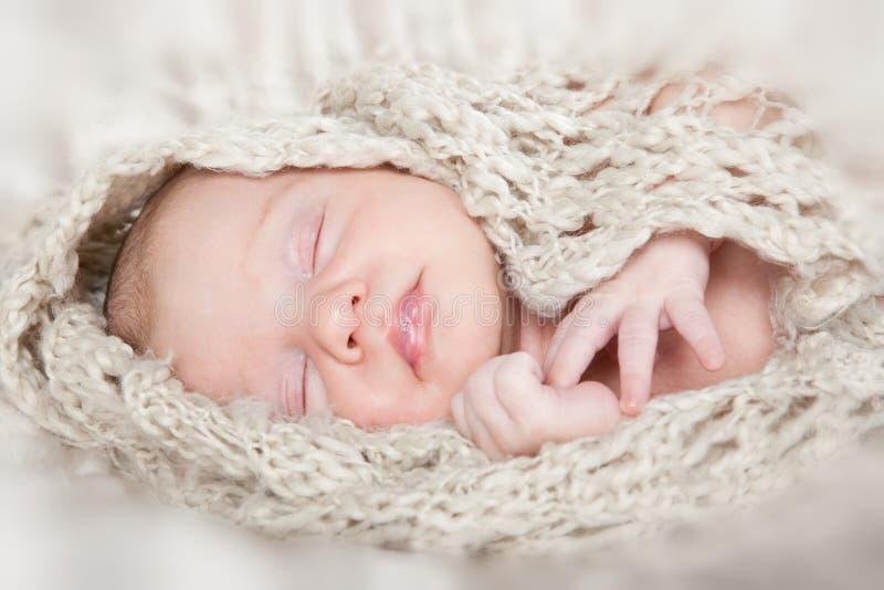 婴孩一揽子新出生照片休眠 图库摄影