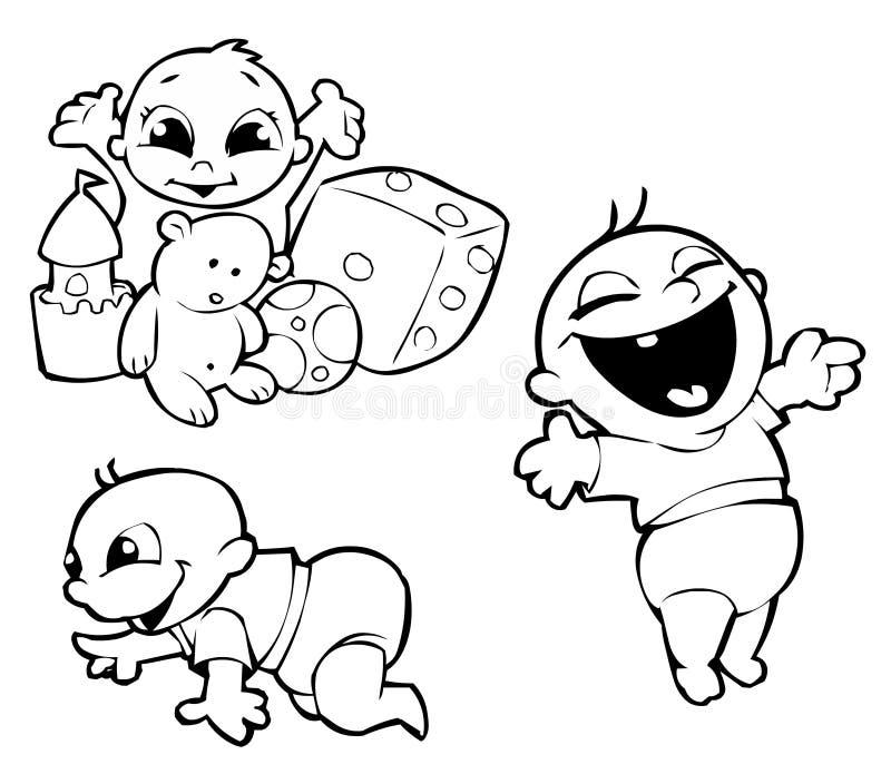 婴孩三 向量例证