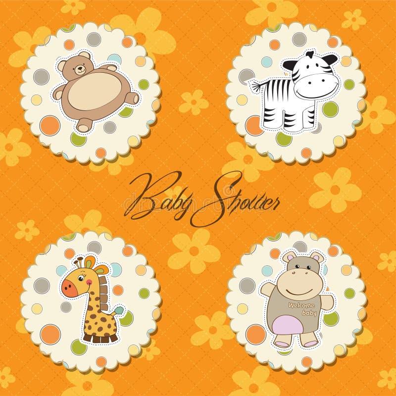 婴孩不同的例证项目 库存例证