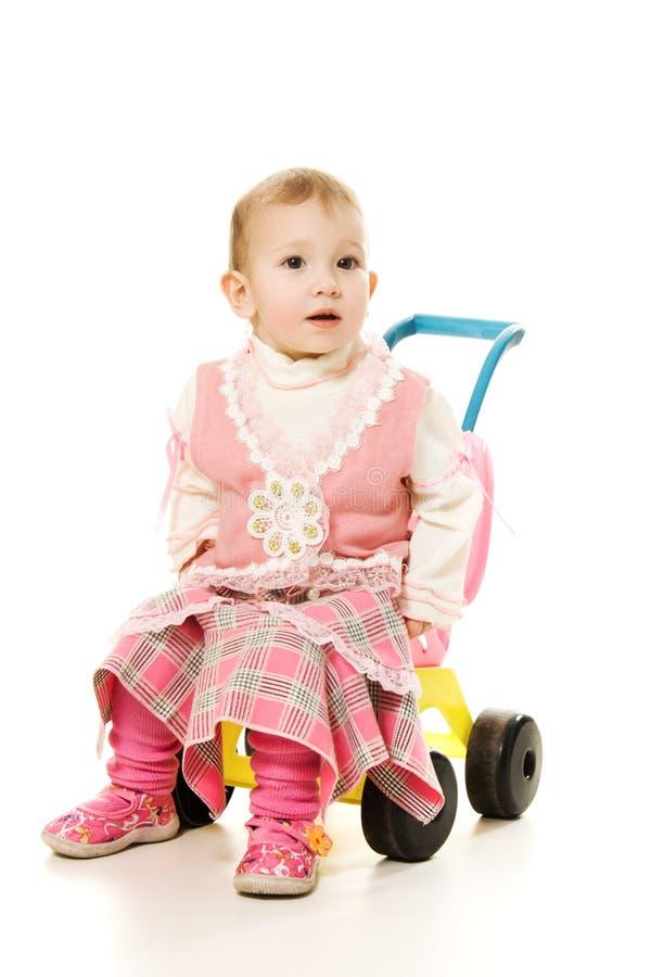婴孩乘驾婴儿推车 库存图片
