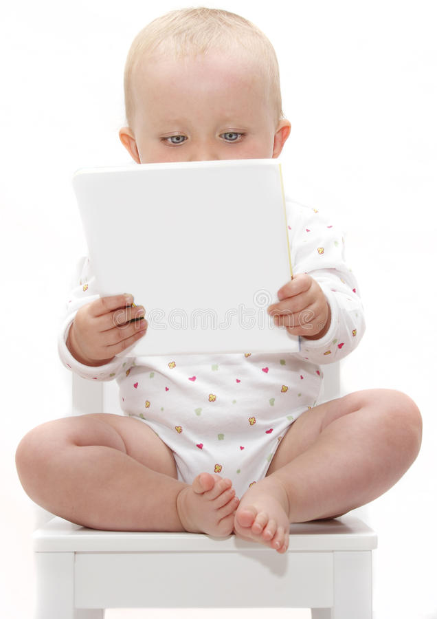 婴孩书读取 库存图片