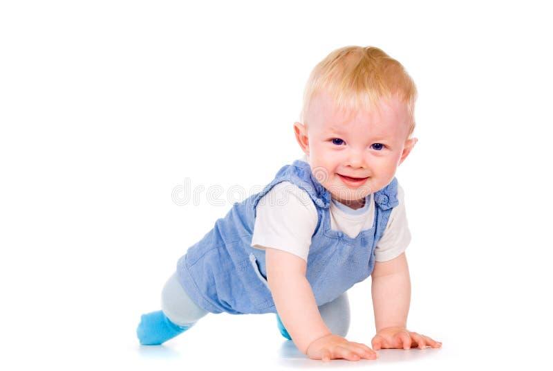 婴孩了解爬行 免版税库存图片