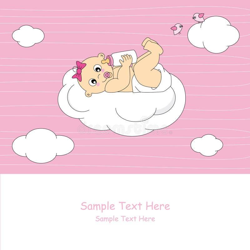 婴孩云彩 向量例证