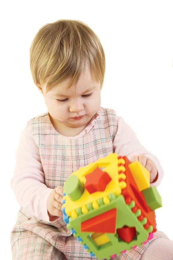 婴孩五颜六色的女孩整理者玩具 免版税库存照片