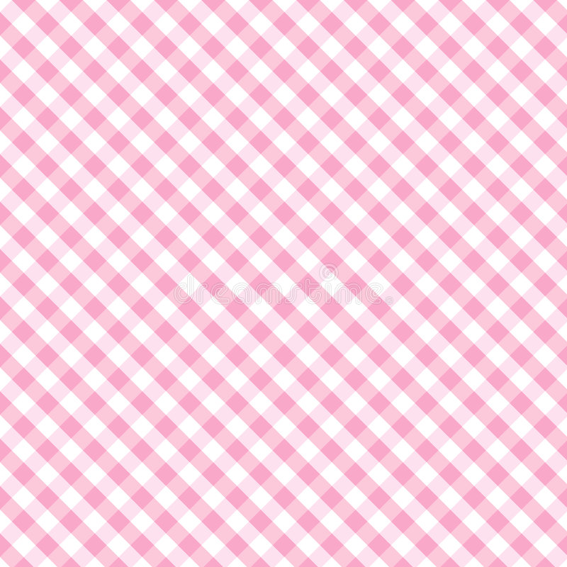 婴孩交叉方格花布粉红色无缝的织法 向量例证