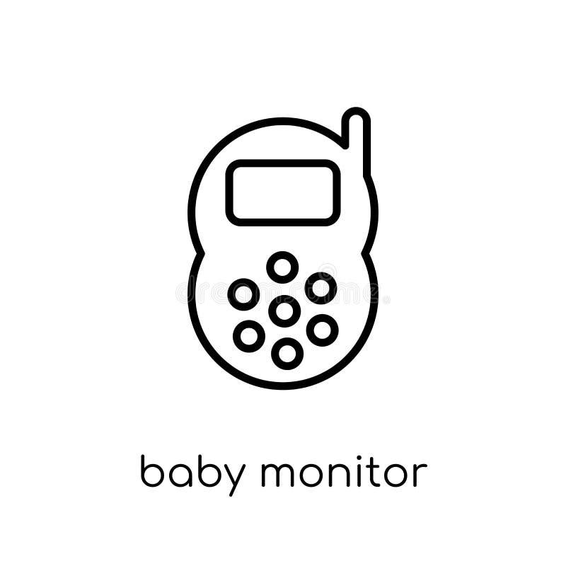 婴孩从电子设备汇集的显示器象 皇族释放例证