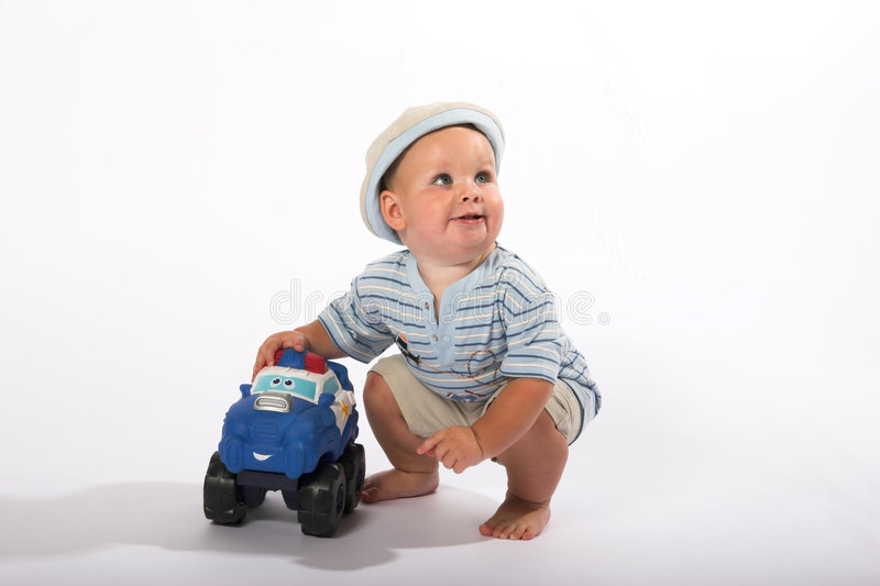 婴孩使用 免版税库存照片