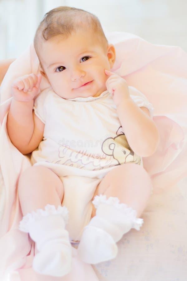 婴孩俏丽的一点 库存图片