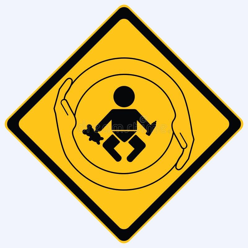 婴孩保护符号 库存例证