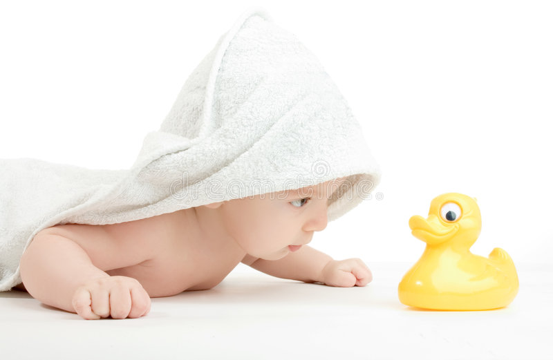 婴孩关心 免版税库存照片