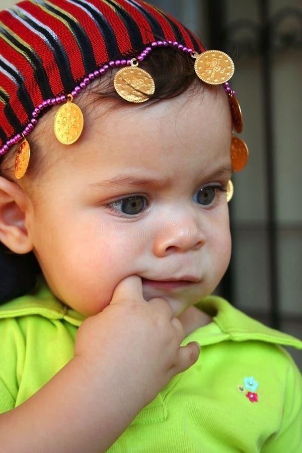 婴孩其围巾 免版税库存图片