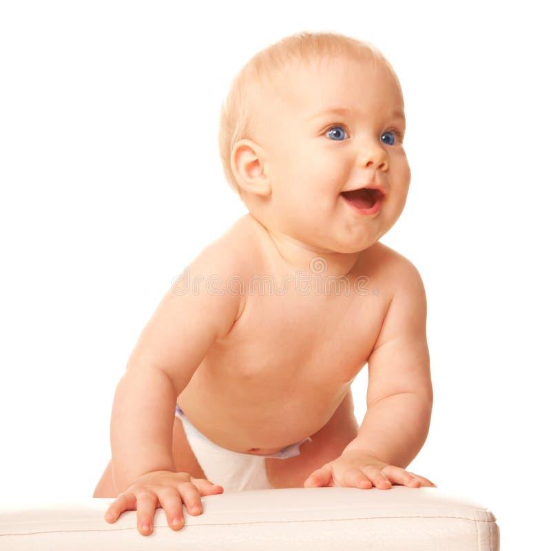 婴孩准备跳。 免版税库存照片
