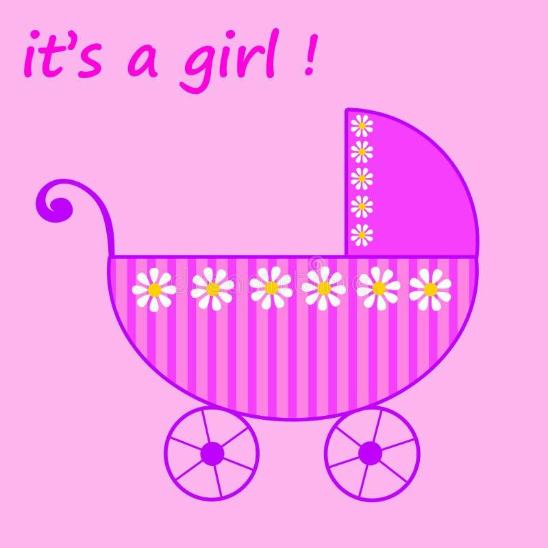 婴孩出生的女孩 向量例证