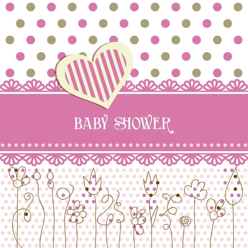 婴孩可爱的阵雨 向量例证