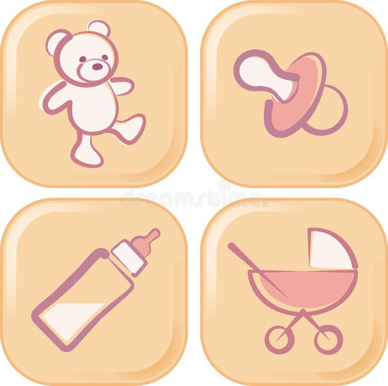 婴孩图标 库存例证