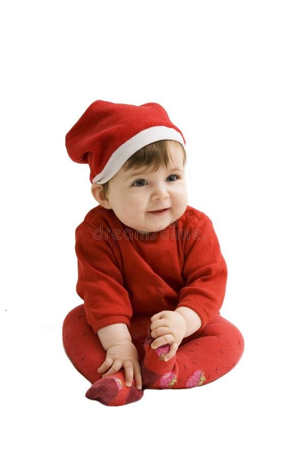 婴孩圣诞节圣诞老人 免版税库存图片
