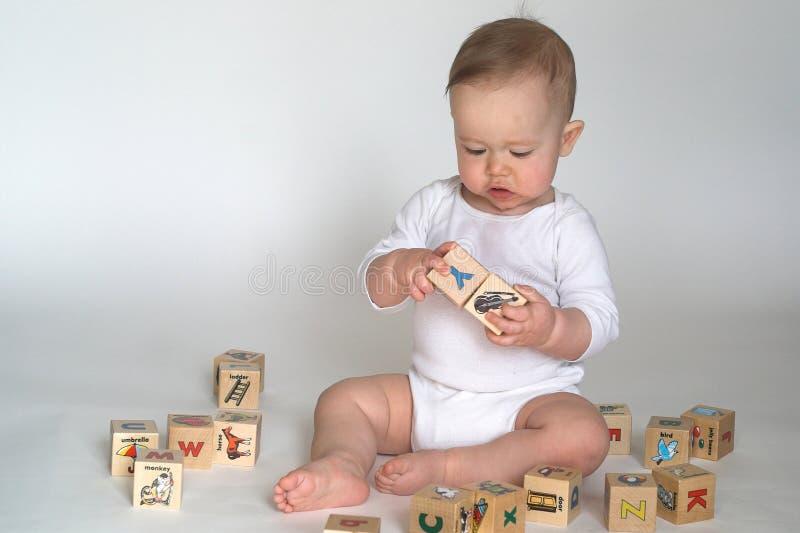 婴孩块 库存图片