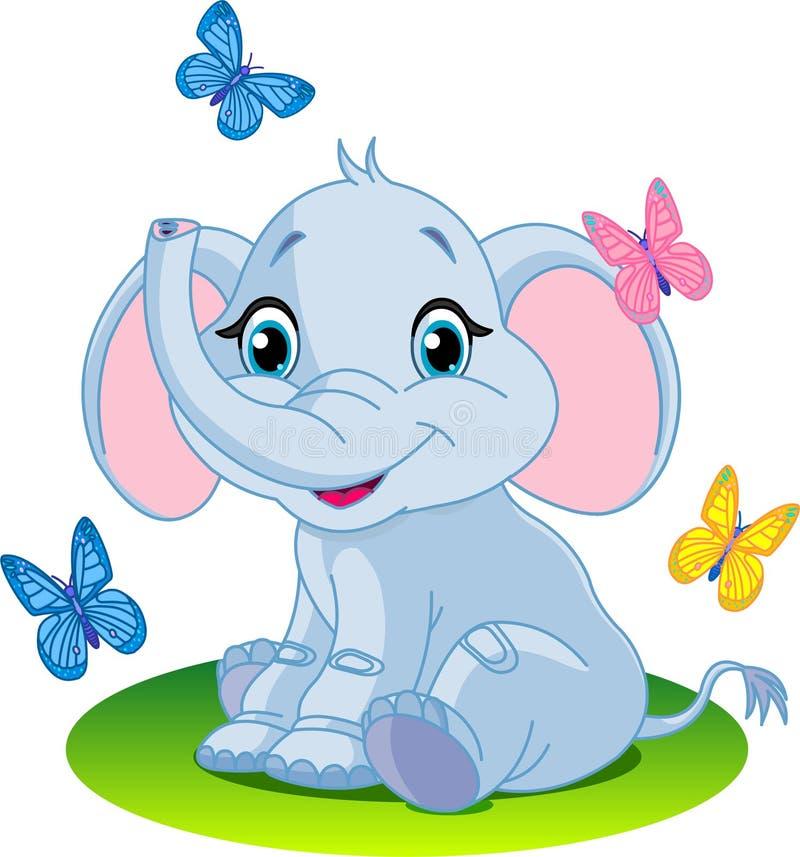 婴孩大象 向量例证
