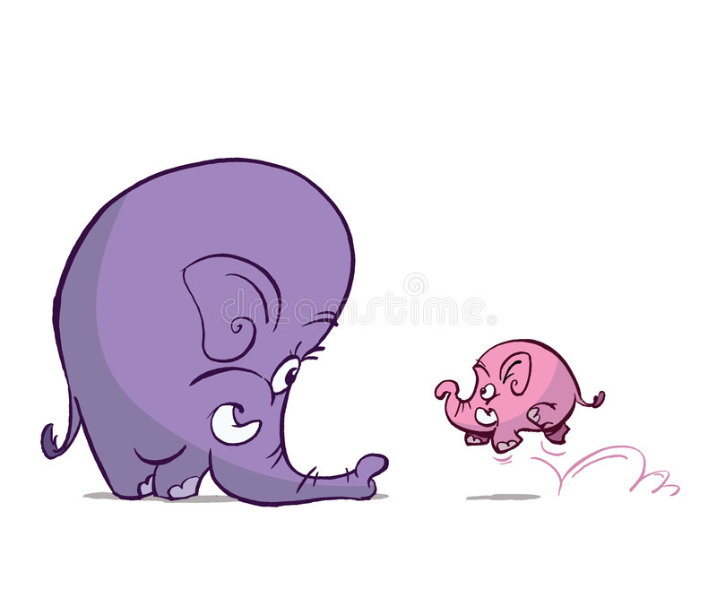 婴孩大象 皇族释放例证