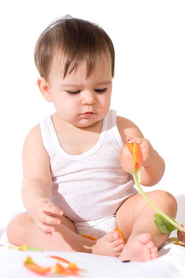 婴孩女花童使用 免版税图库摄影