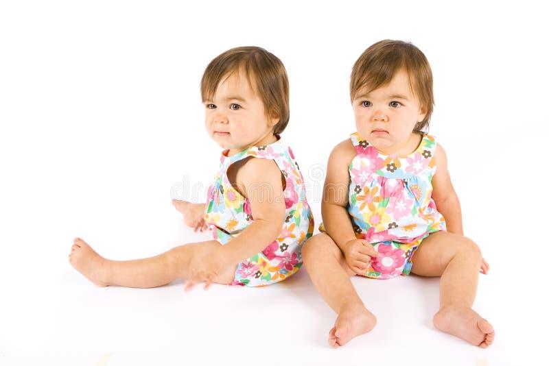 婴孩孪生 免版税库存照片