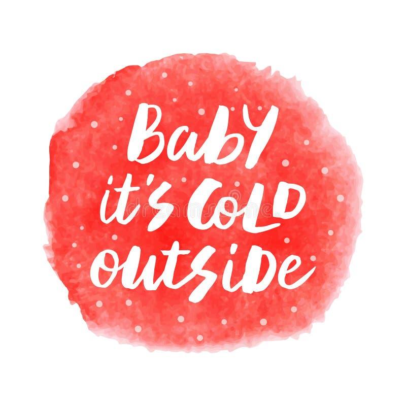婴孩它外面` s寒冷 库存照片
