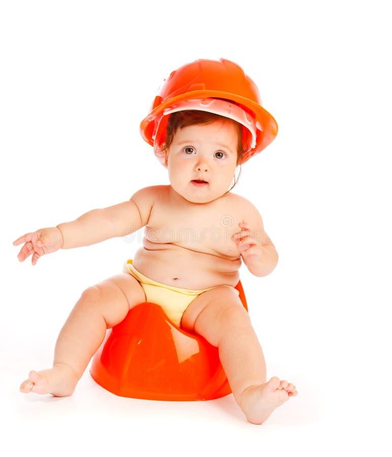 婴孩安全帽 库存照片