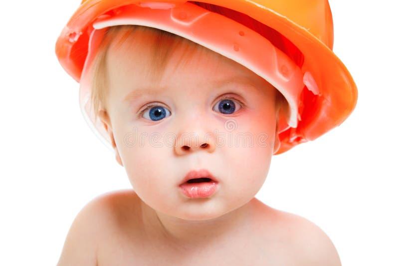 婴孩安全帽 免版税图库摄影