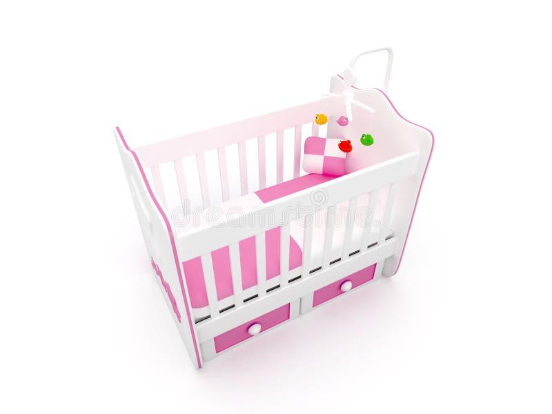 婴孩小儿床 向量例证