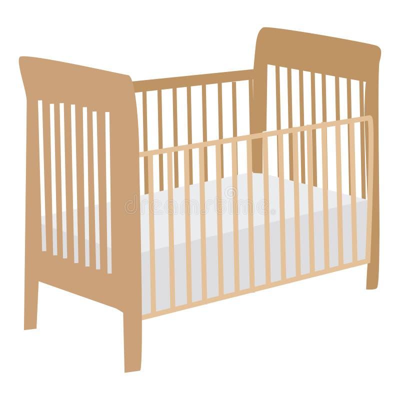 婴孩小儿床 库存例证