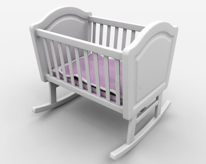 婴孩小儿床s 向量例证