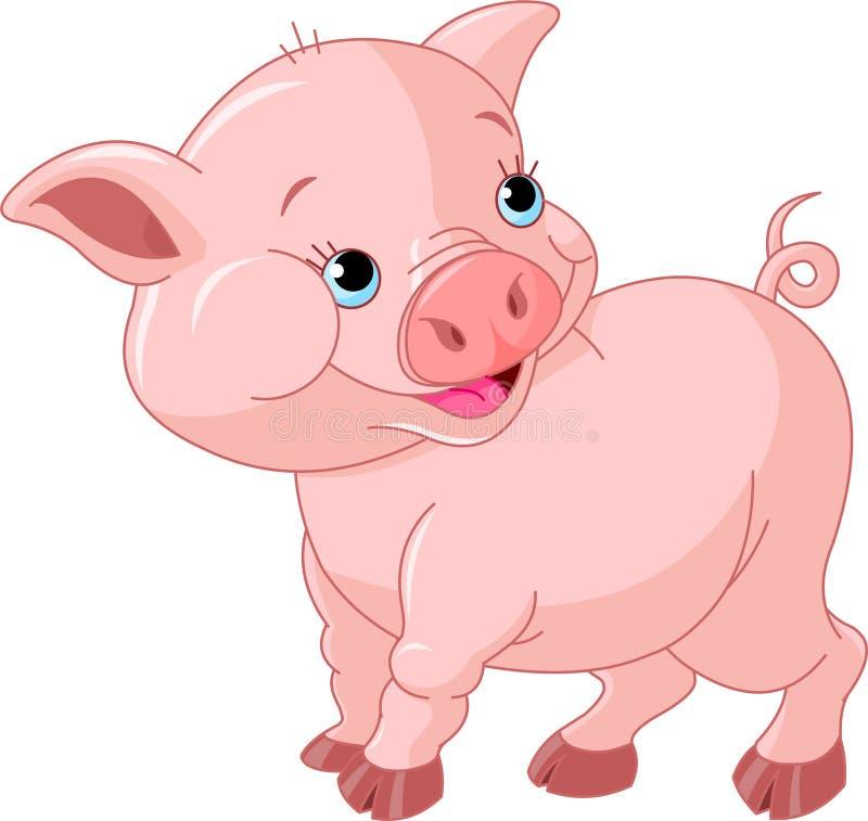 婴孩小的猪 皇族释放例证