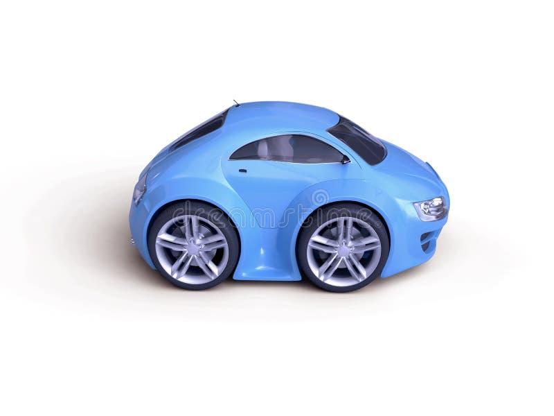 婴孩小轿车查出的侧视图 向量例证