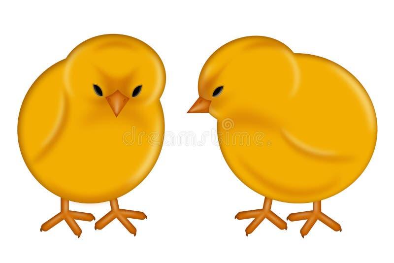 婴孩小鸡日愉快的复活节 皇族释放例证
