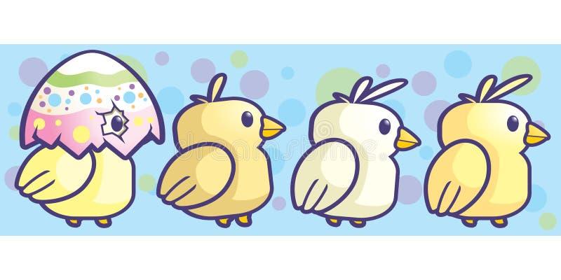 婴孩小鸡 向量例证