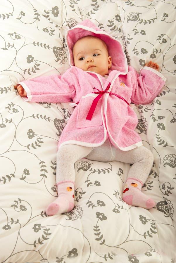 婴孩床位于 图库摄影