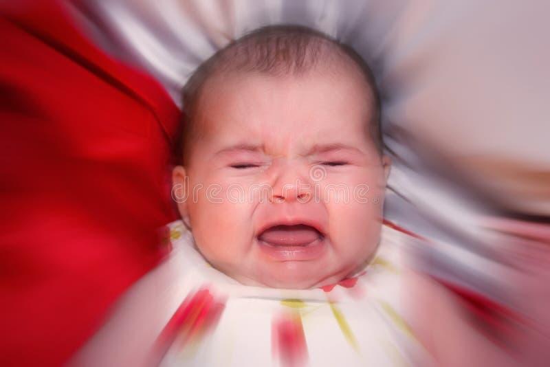 婴孩强调 库存照片