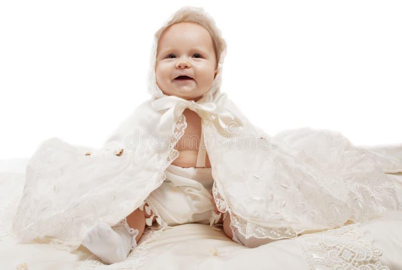 婴孩微笑 免版税库存照片