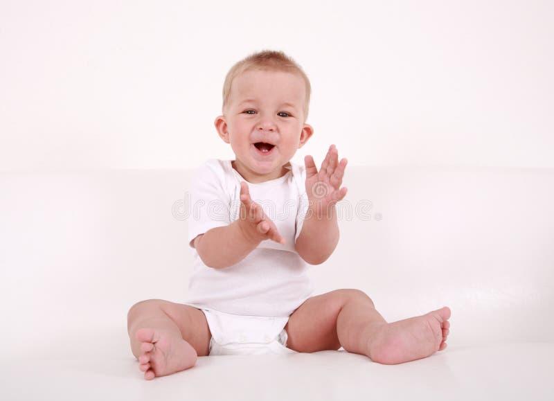 婴孩微笑 免版税图库摄影