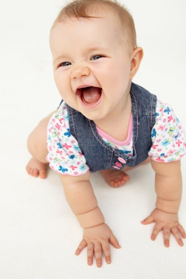 婴孩愉快的纵向 免版税库存图片