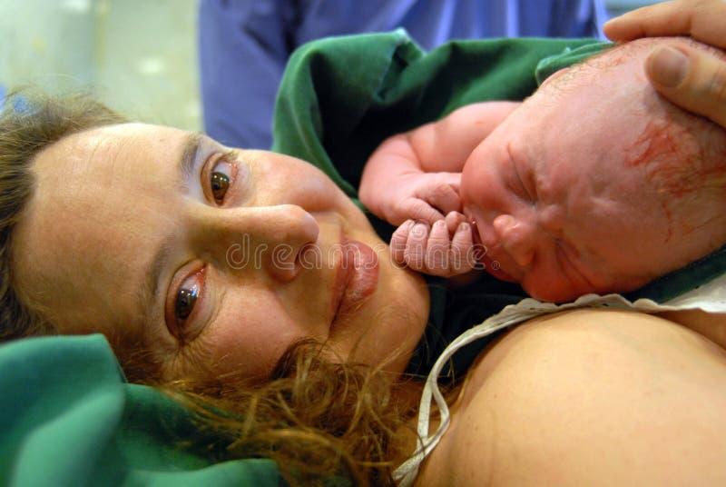 婴孩新出生的女孩 图库摄影