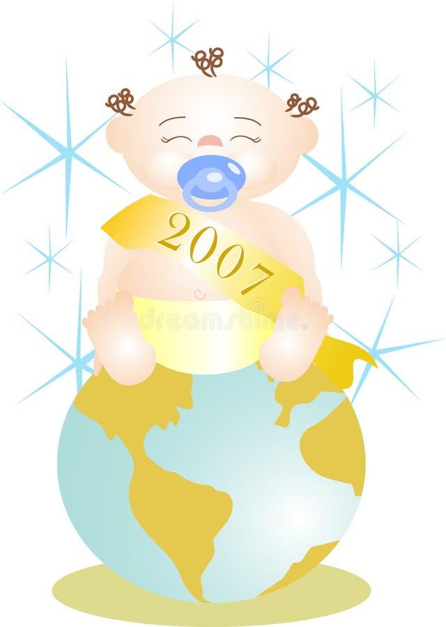婴孩新的世界年 库存图片