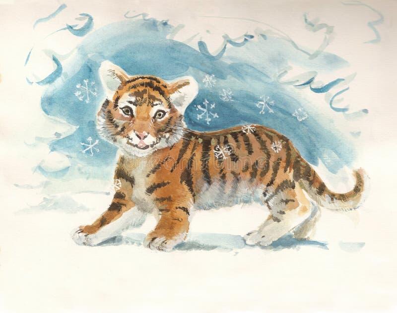 婴孩新的老虎年 图库摄影