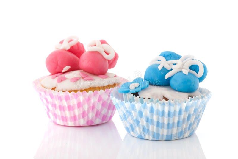 婴孩杯形蛋糕 免版税图库摄影